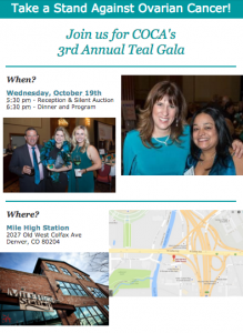 CCGYNONC Proud Sponsor for Teal Gala 2016